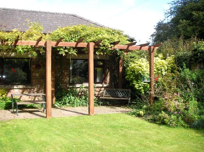 Pergola and patio